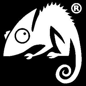 Chameleon logo 3000 white
